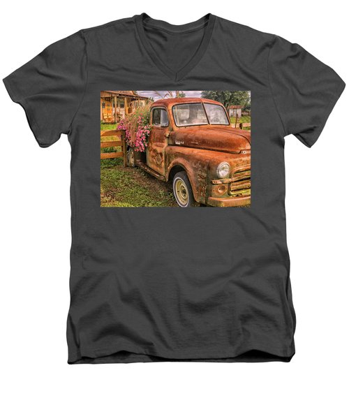 Dodge Flower Pot Men's V-Neck T-Shirt