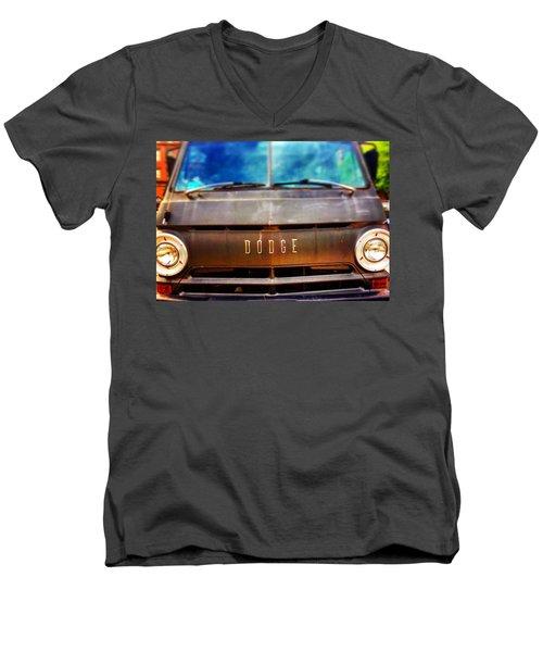 Dodge In Town Men's V-Neck T-Shirt by Olivier Calas