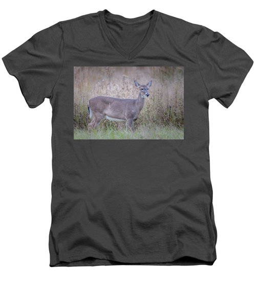 Men's V-Neck T-Shirt featuring the photograph Doe by Tyson Smith