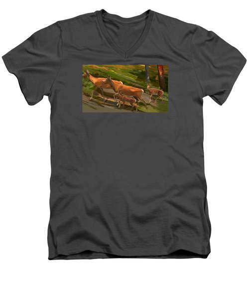 Does And Fawns Men's V-Neck T-Shirt