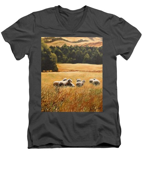 Does My Bum Look Big In This Paddock? Men's V-Neck T-Shirt