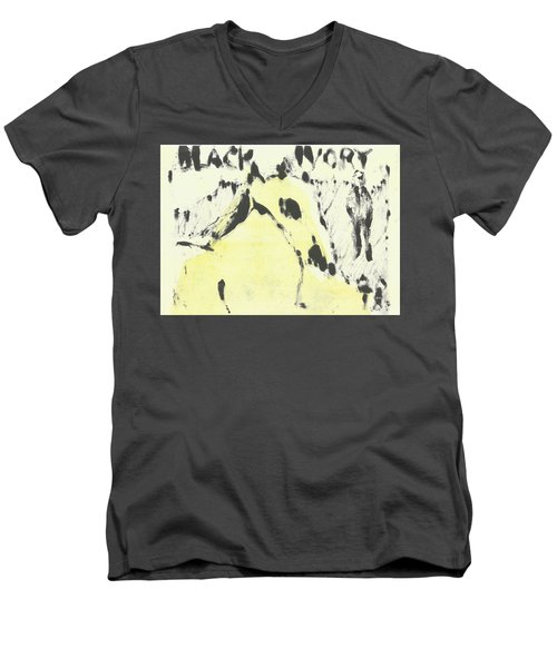 Dog At The Beach - Black Ivory 1 Men's V-Neck T-Shirt