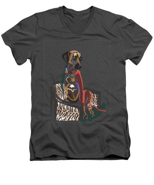 Dog Scoop Men's V-Neck T-Shirt