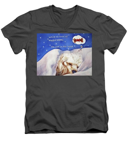 Doggie Dreams Men's V-Neck T-Shirt