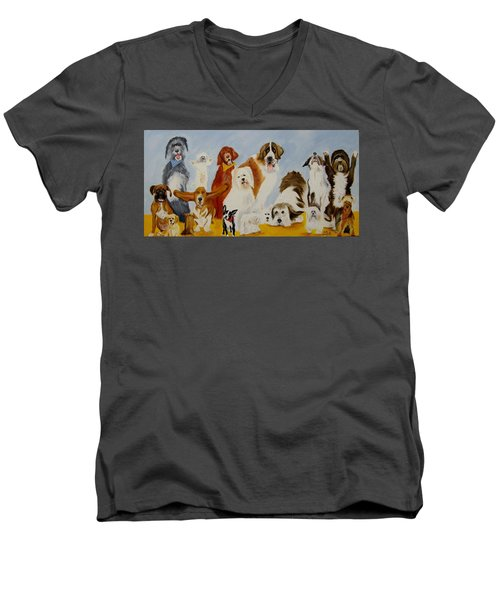 Dogs Are People Too Men's V-Neck T-Shirt