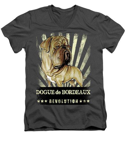 Dogue De Bordeaux Revolution Men's V-Neck T-Shirt