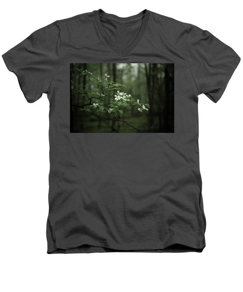 Dogwood Branch Men's V-Neck T-Shirt by Shane Holsclaw