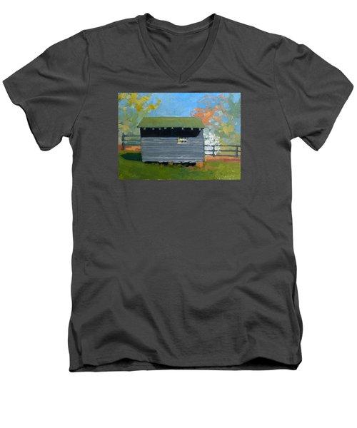 Dogwood Farm Shed Men's V-Neck T-Shirt by Catherine Twomey