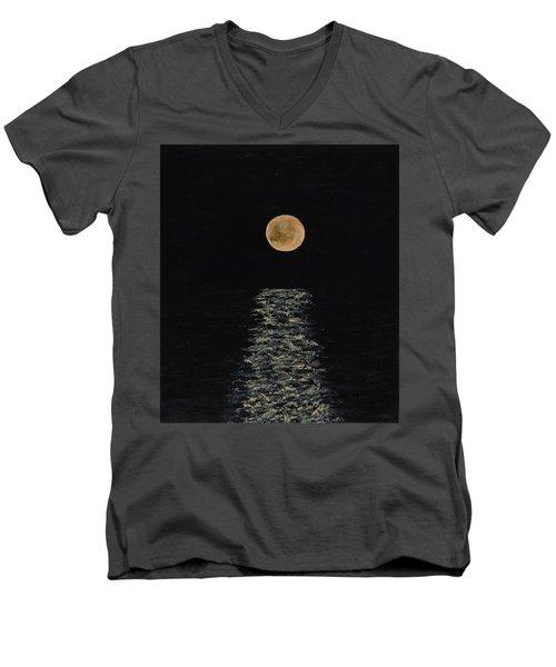 Doha Moonrise Men's V-Neck T-Shirt