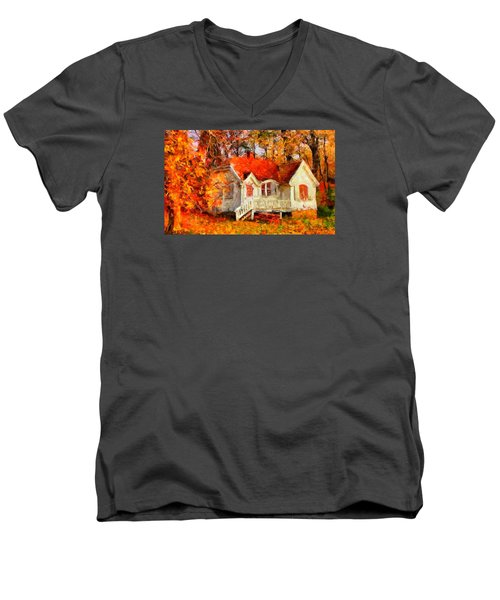 Doll House And Foliage Men's V-Neck T-Shirt