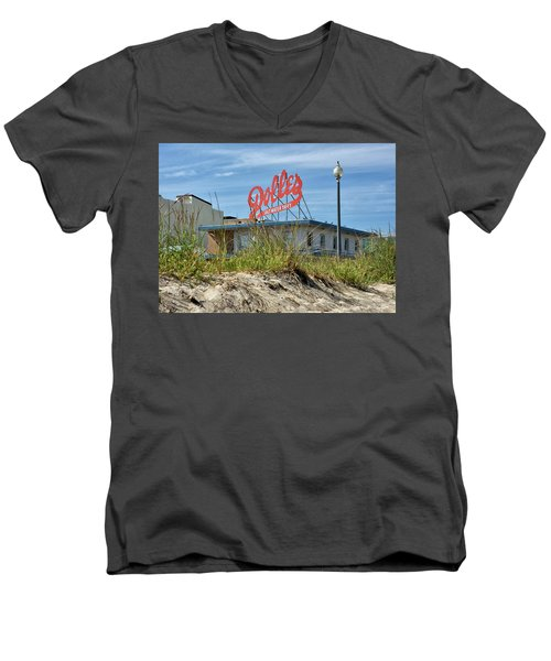 Men's V-Neck T-Shirt featuring the photograph Dolles Candyland - Rehoboth Beach Delaware by Brendan Reals