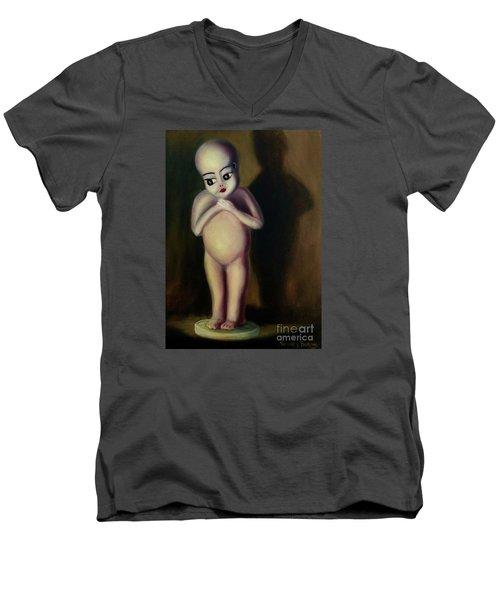 Dollie Men's V-Neck T-Shirt by Randy Burns