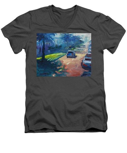 Dolores Street Men's V-Neck T-Shirt by Rick Nederlof