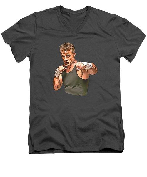 Dolph Lundgren Men's V-Neck T-Shirt by Sergey Lukashin