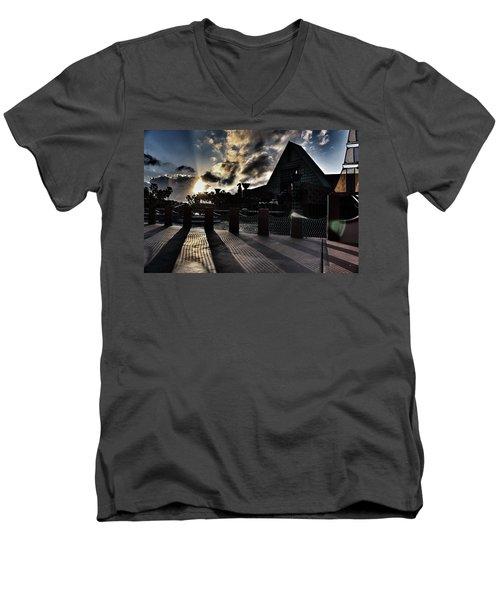 Dolphin Hotel Sunset Men's V-Neck T-Shirt