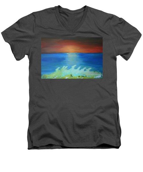 Dolphin Waves Men's V-Neck T-Shirt