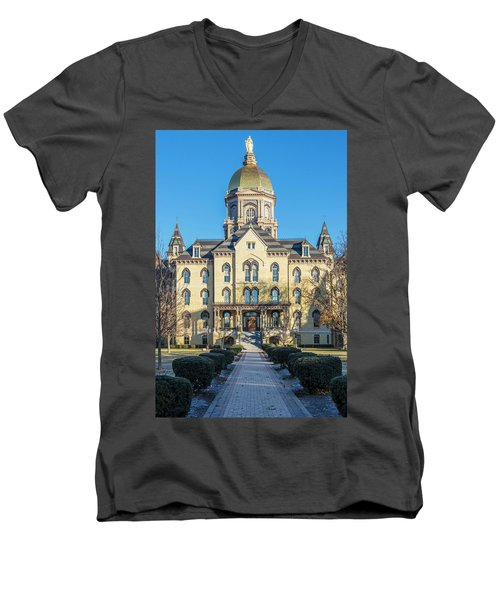 Dome At University Of Notre Dame  Men's V-Neck T-Shirt