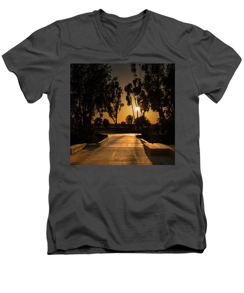 Dominguez Hills Sunset Men's V-Neck T-Shirt