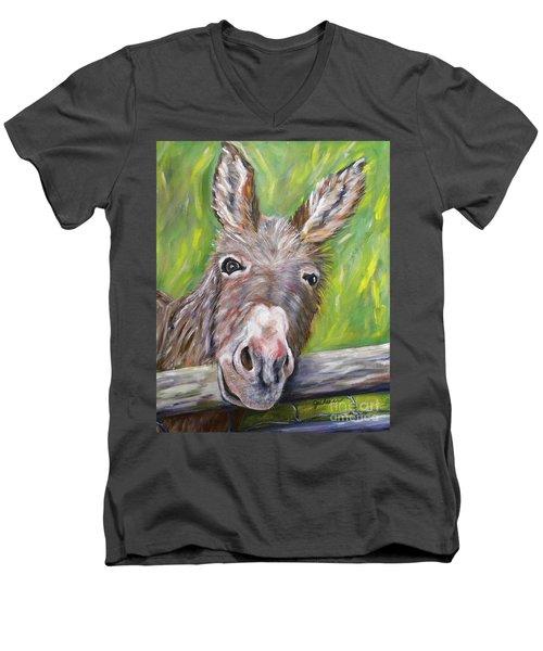 Dominic The Donkey Men's V-Neck T-Shirt