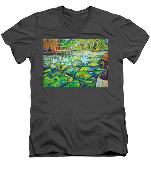 Dominicana Men's V-Neck T-Shirt by Anna  Duyunova