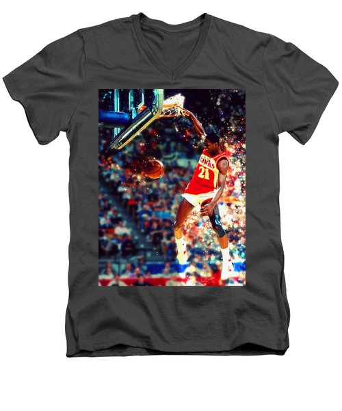 Dominique Wilkins - Nba Legend Men's V-Neck T-Shirt