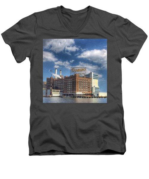 Domino Sugar Men's V-Neck T-Shirt