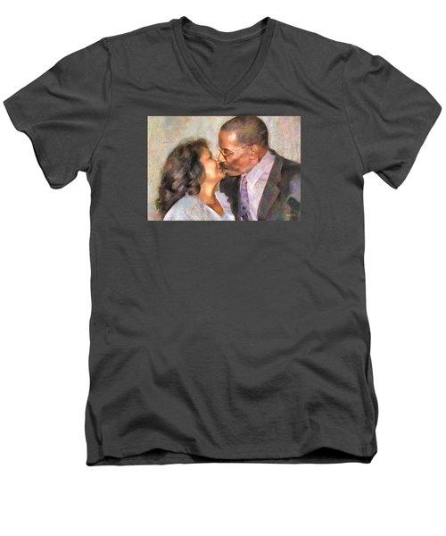 Done For Joy Green Men's V-Neck T-Shirt