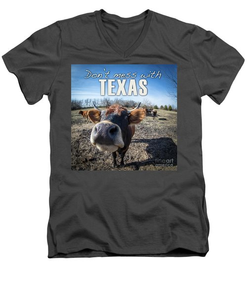 Don't Mess With Texas Men's V-Neck T-Shirt