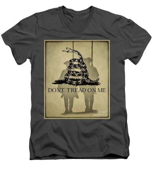 Don't Tread On Me   Rattlesnake Flag Men's V-Neck T-Shirt