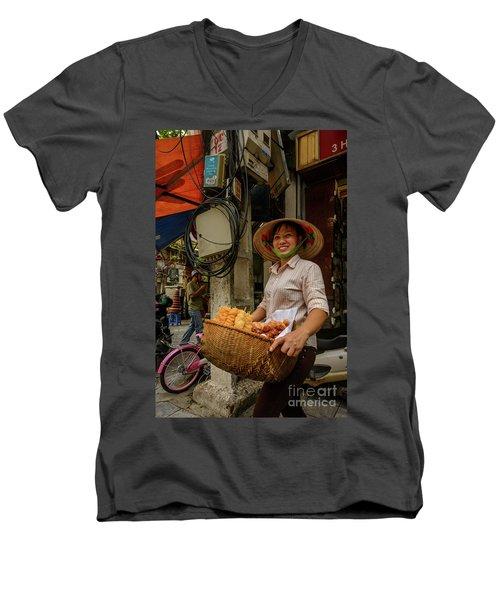 Donut Seller Men's V-Neck T-Shirt