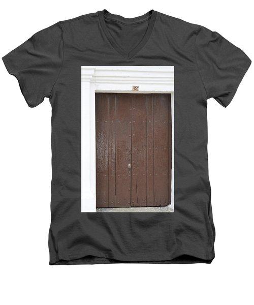 Door # 3  Men's V-Neck T-Shirt