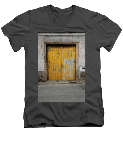 Men's V-Neck T-Shirt featuring the photograph Door No 152 by Marco Oliveira