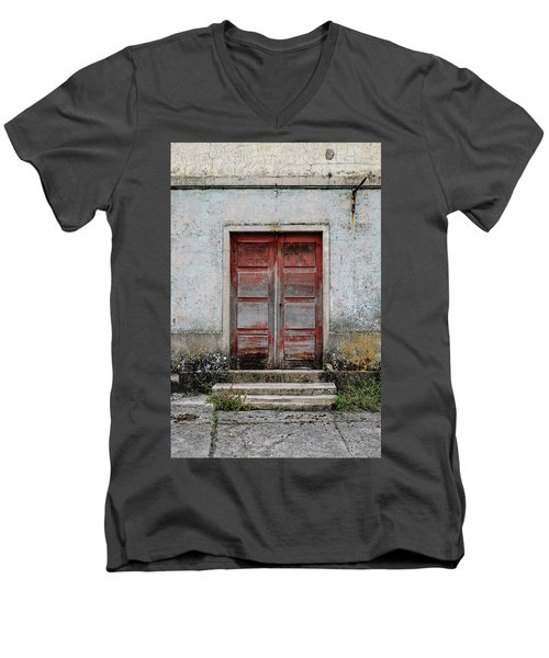 Men's V-Neck T-Shirt featuring the photograph Door No 175 by Marco Oliveira