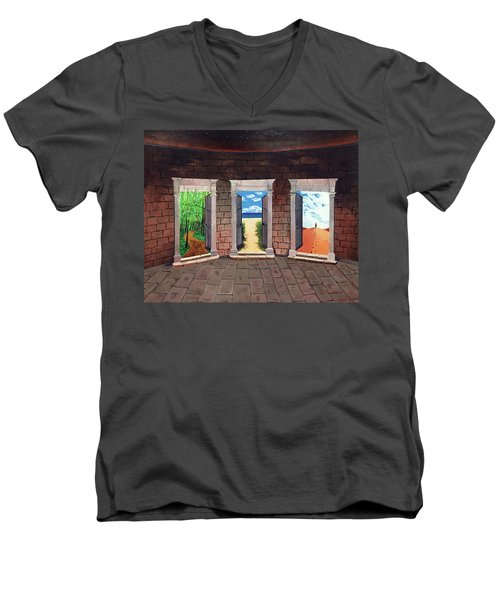 Door Number Three Men's V-Neck T-Shirt