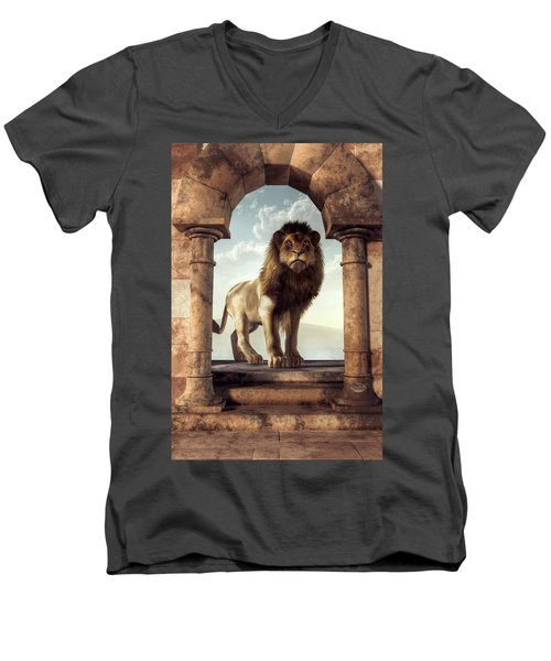 Door To The Lion's Kingdom Men's V-Neck T-Shirt