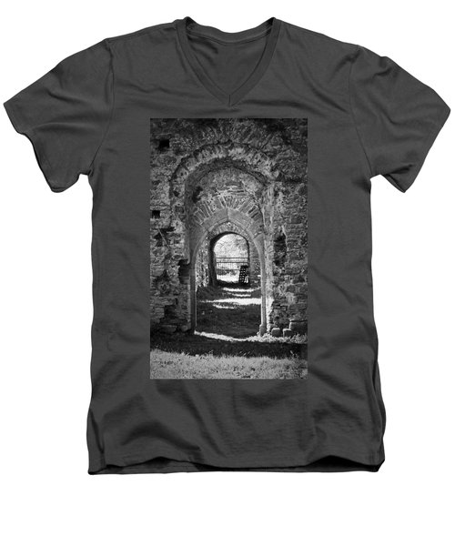 Doors At Ballybeg Priory In Buttevant Ireland Men's V-Neck T-Shirt