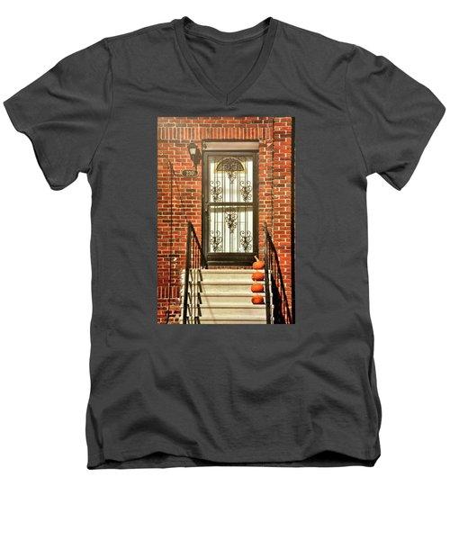 Doorstep Decor Men's V-Neck T-Shirt by JAMART Photography