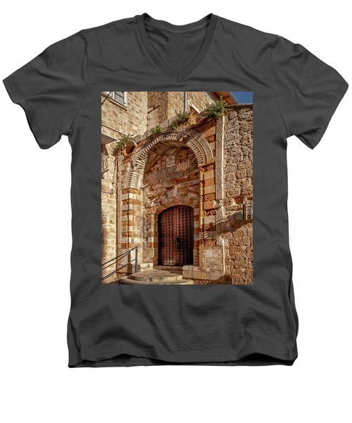 Doorway In Akko Men's V-Neck T-Shirt