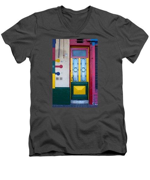 Doors Of San Telmo, Argentina Men's V-Neck T-Shirt