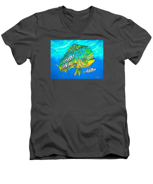 Dorado And Pilot Fish - Mahi Mahi Fish Men's V-Neck T-Shirt