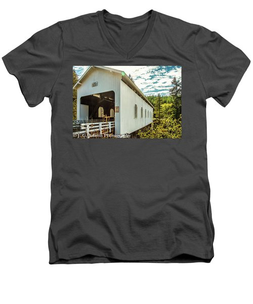 Dorena Covered Bridge Men's V-Neck T-Shirt