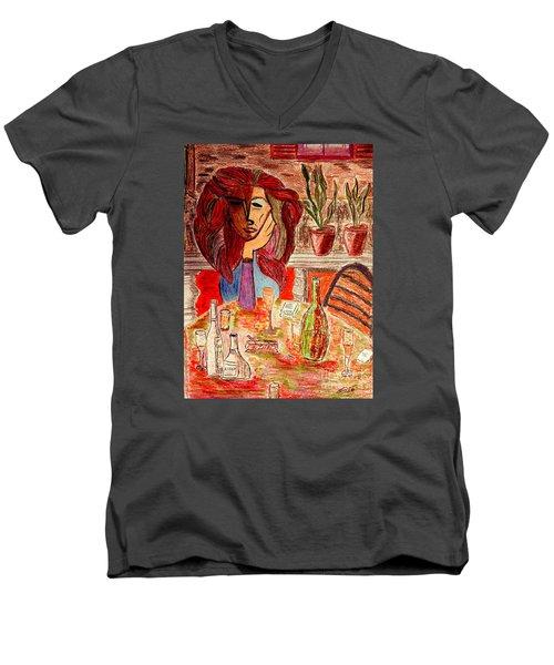 Dorothys Birthday Party Men's V-Neck T-Shirt by Bill OConnor