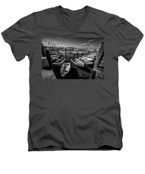 Dory Dock Men's V-Neck T-Shirt by Kevin Cable