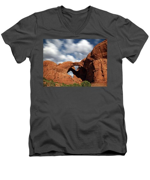 Double Arch In The Moonlight Men's V-Neck T-Shirt