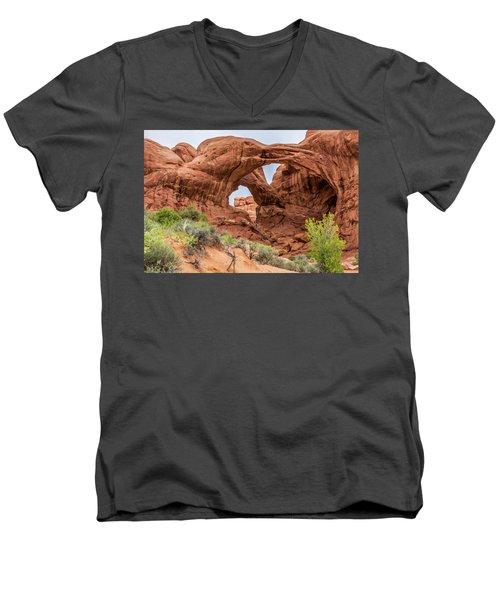 Double Arches, Arches National Park Men's V-Neck T-Shirt
