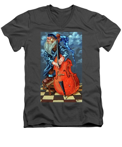 Double Bass And Bench Men's V-Neck T-Shirt