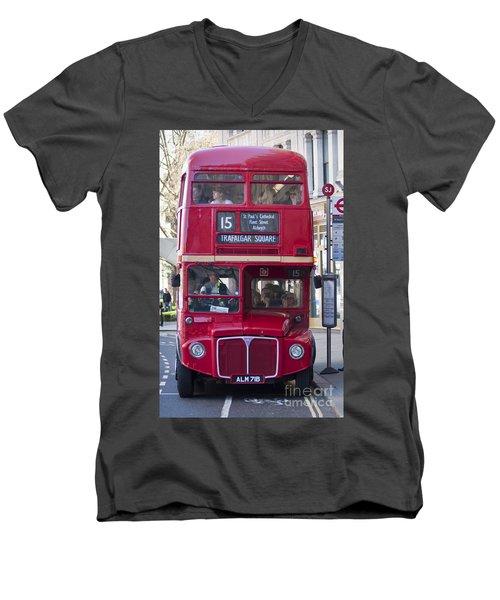 Double Decker  Men's V-Neck T-Shirt