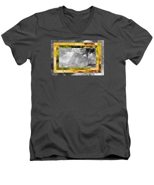 Double Framed Portrait Men's V-Neck T-Shirt by Andrea Barbieri