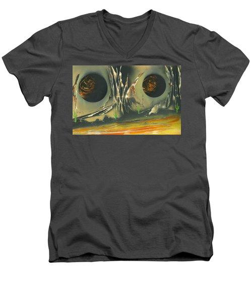Double Moon Desert Men's V-Neck T-Shirt