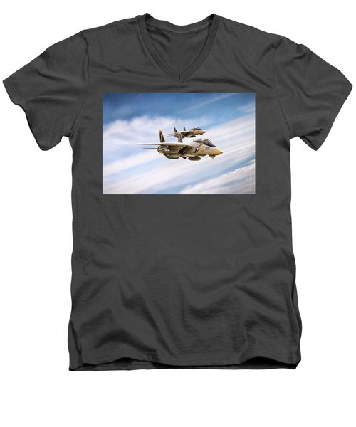 Men's V-Neck T-Shirt featuring the digital art Double Nuts by Peter Chilelli
